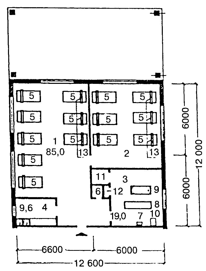 план схема групповой комнаты в младшей группе