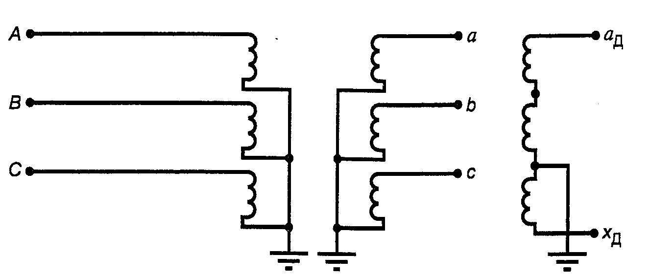 Схема включения трехфазных