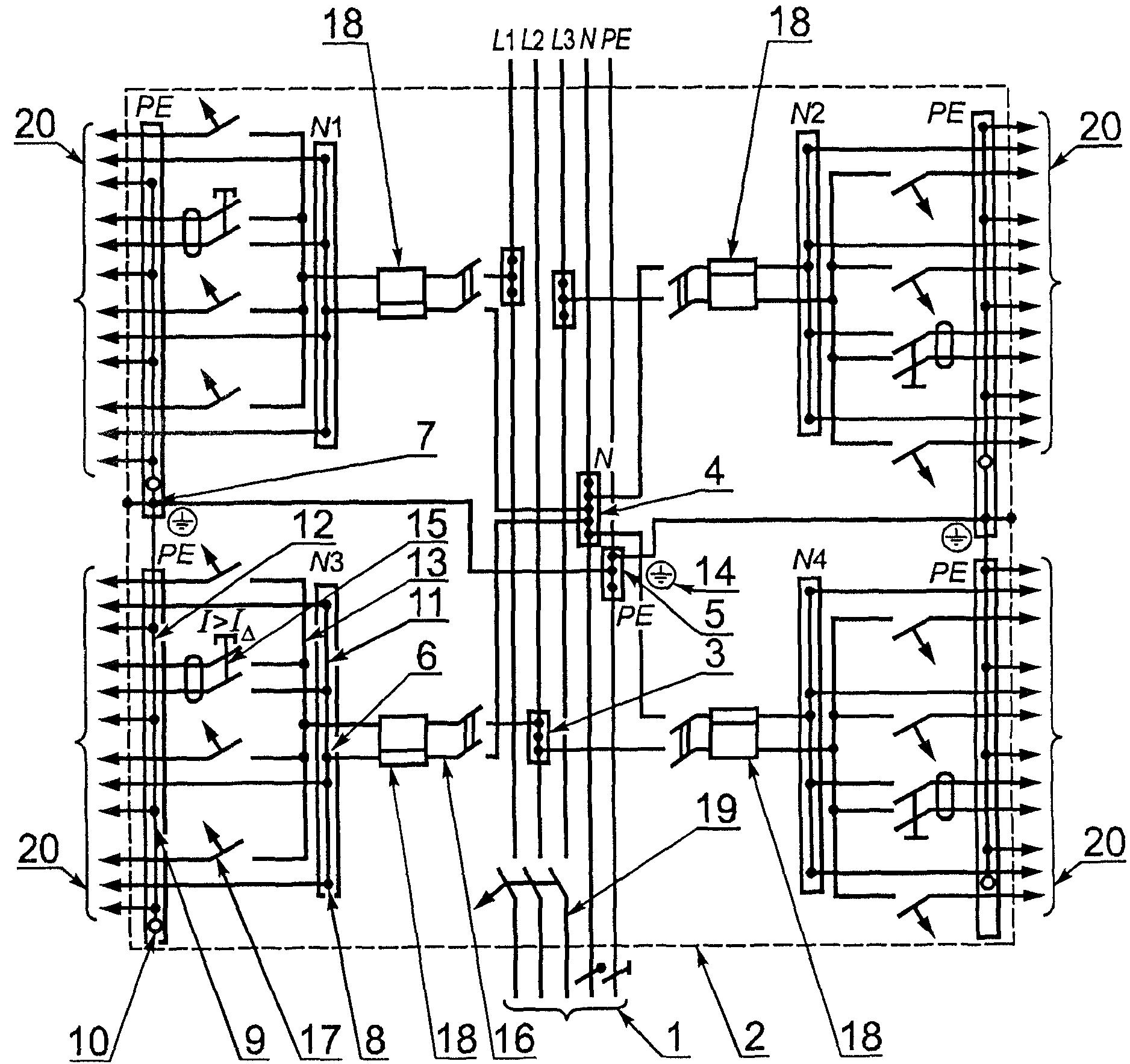 Схема распределительного щита квартиры.  Схема станка 16к20т1.