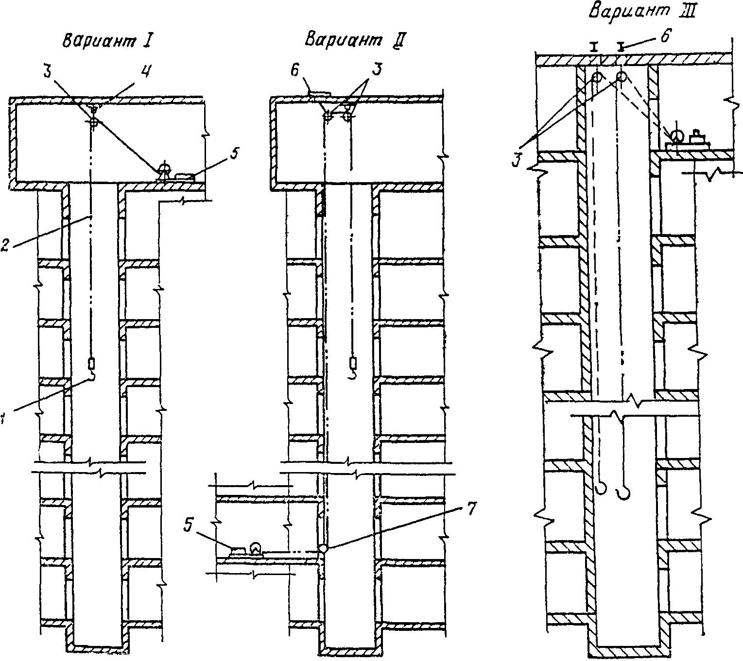 336. 250.  220. Рис. 15.  Схема установкимонтажной лебедки и запасовки грузового каната.