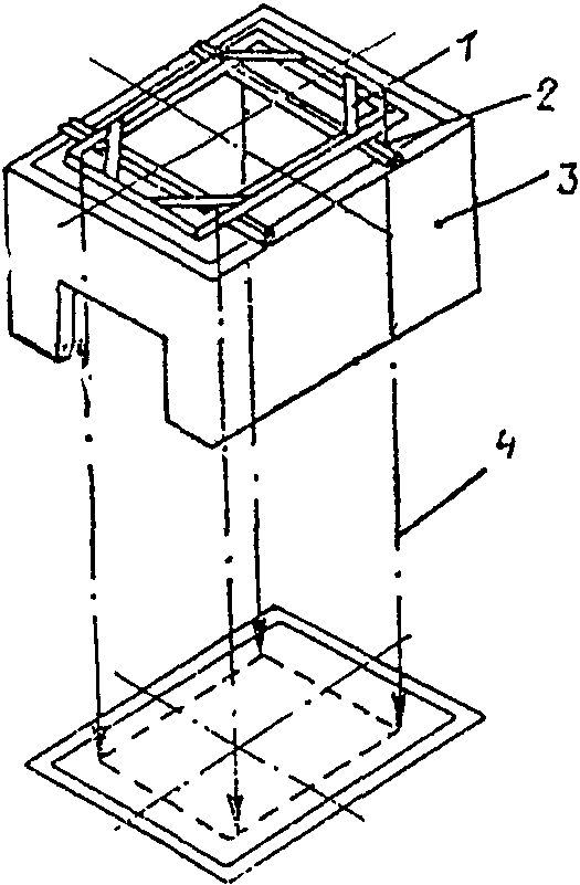 Установка шаблона. шаблон; 1 - балка; 3 - шахта лифта; 4 - отвес. на специальные балки (металлические или деревянные)...