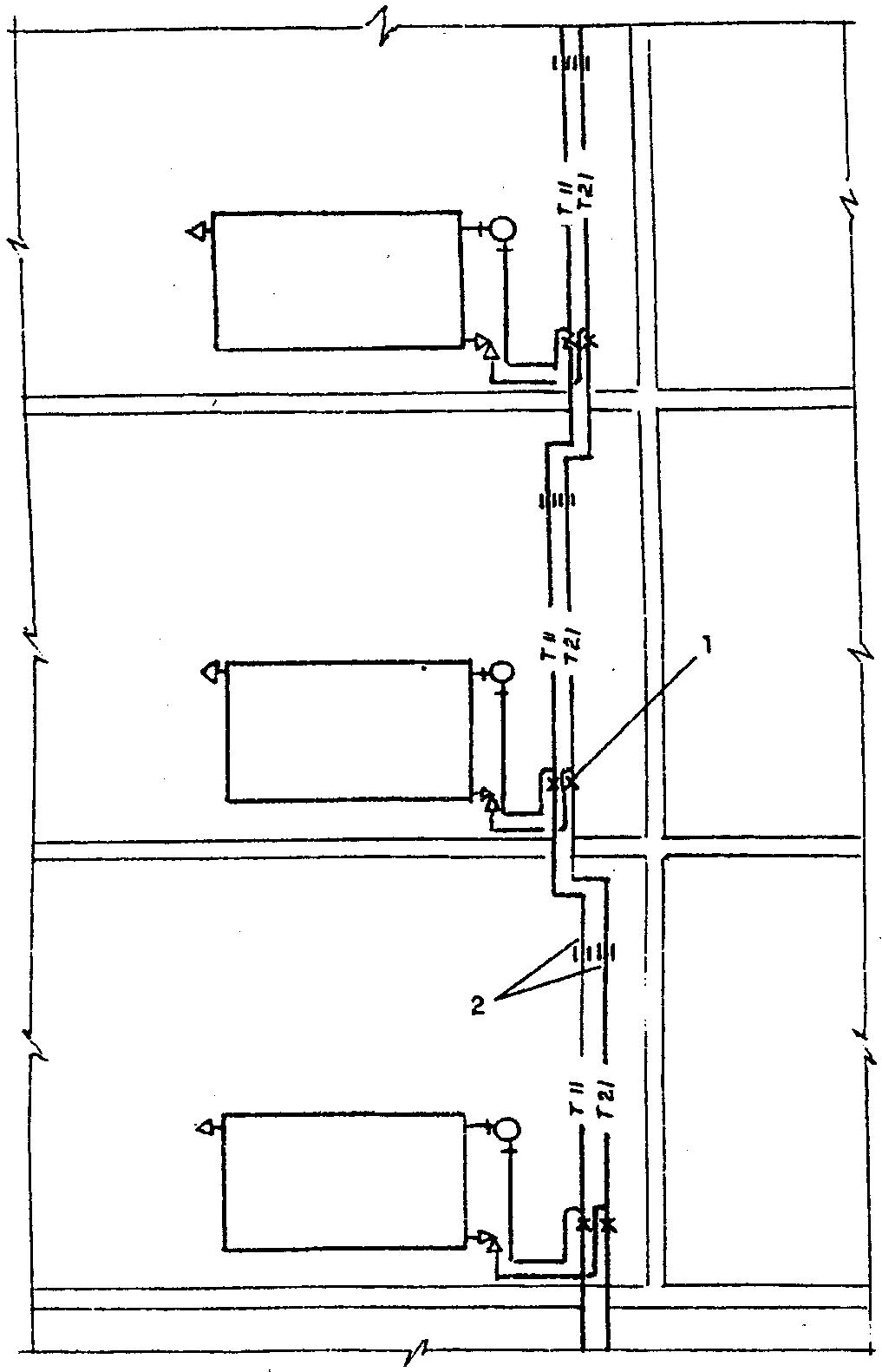схема напорной системы отопления