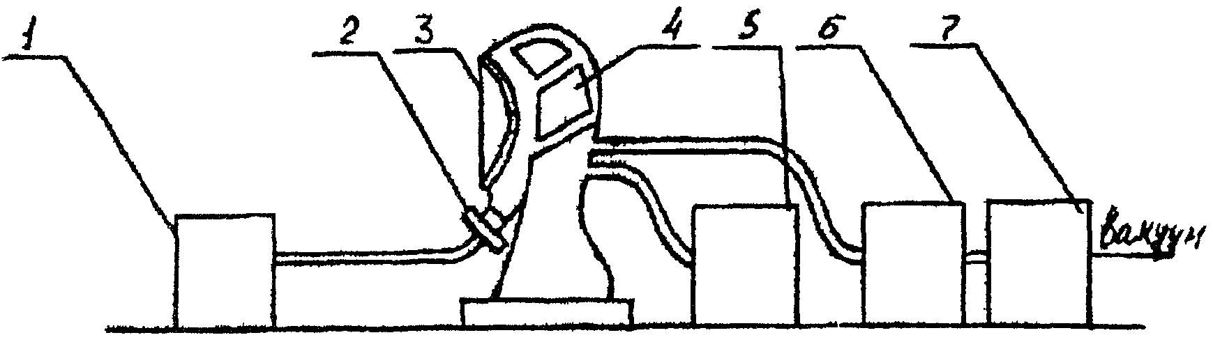 Рис.7.2. Принципиальная схема соединения оборудования для определения давления открытия клапана легочного автомата...