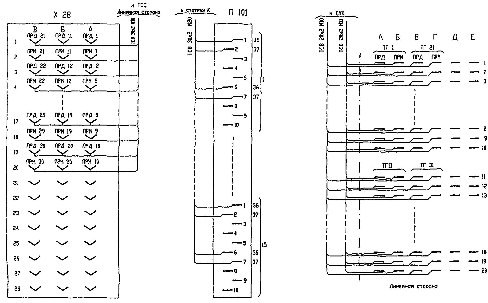 Примеры выполнения схем подключения.