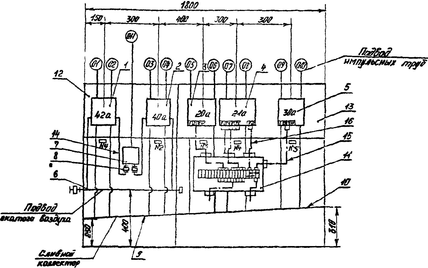 3. пример выполнения чертежа установки.  Для подключения к блоку внешних проводок указывают их маркировку по схеме...