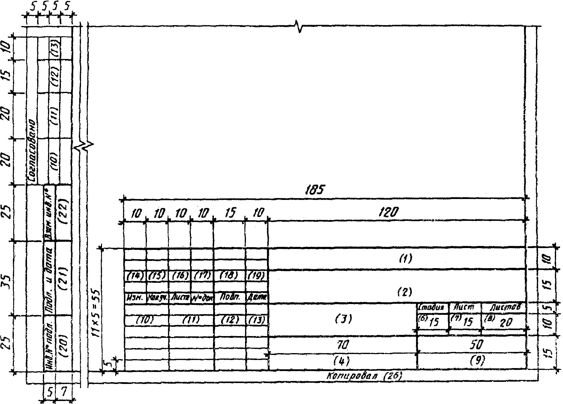 Рамка для чертежа a3.