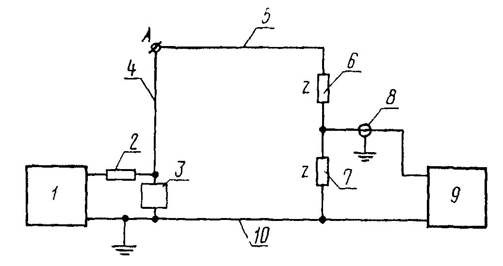 1 - источник напряжения; 2 - токоограничивающий резистор.  Схема для экспериментального определения реакции.