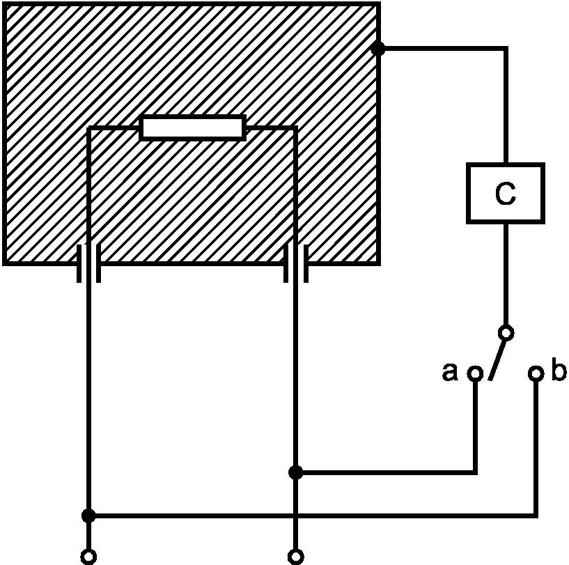 Рисунок 2 -Схема измерения тока утечки при рабочей температуре для однофазных приборов, кроме приборов класса II. a...