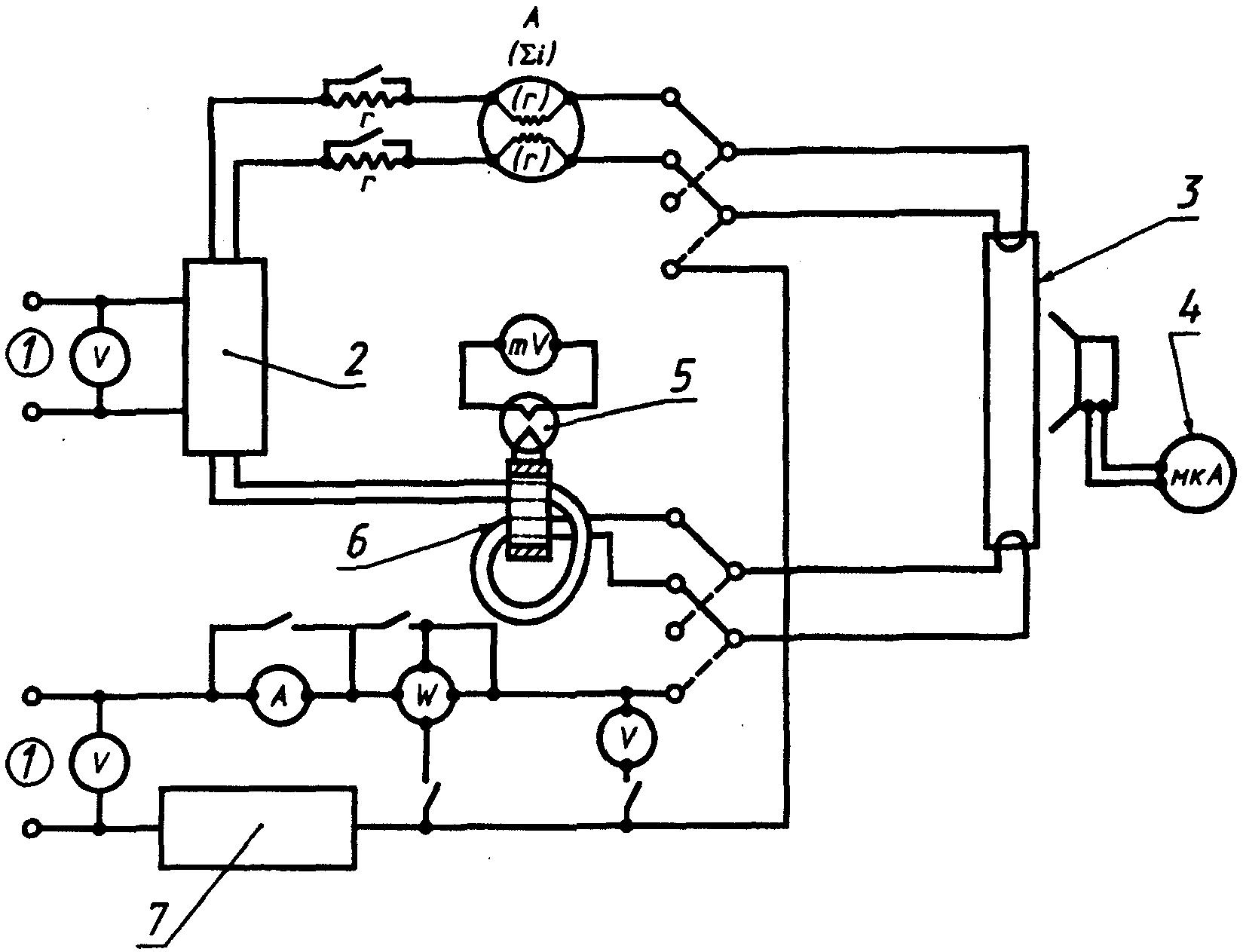 Рисунок 6.Схема измерения мощности. бесстартерные. и выходного тока.  3 - номинальная лампа; 4 - фотоэлемент; 5...