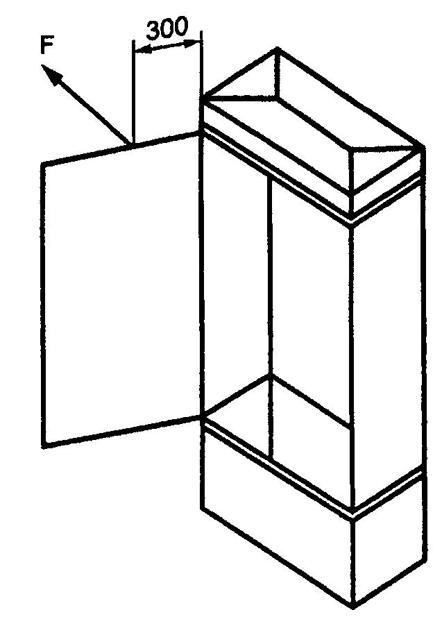 ...двери не предусматривает снятия ее с петель без использования... ли дверь(и) с... Рисунок 7. Схема испытания.