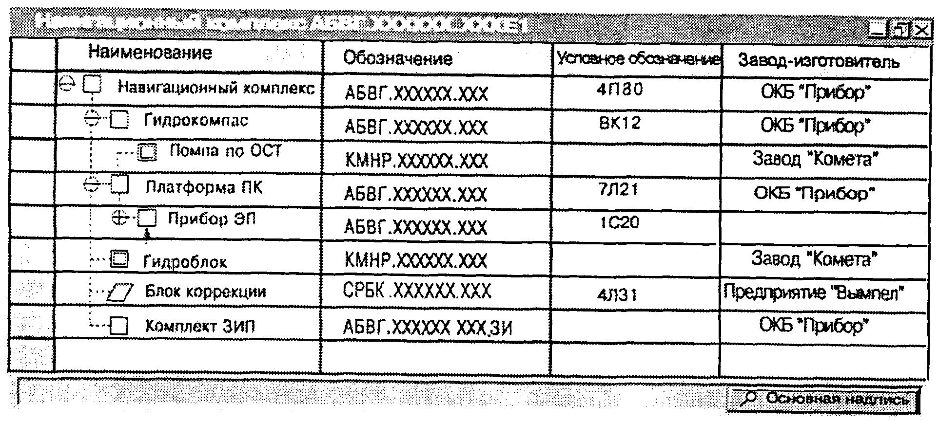 2 и 3 приведены примеры представления схемы деления структурной на экране ЭВМ.  Черт.