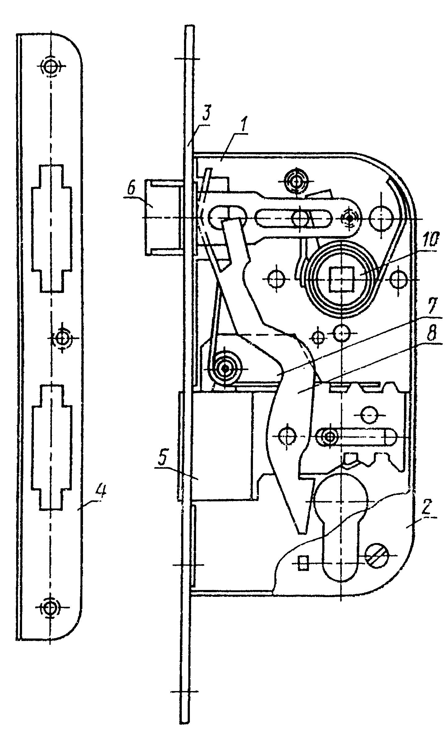 устройство внутреннего замка двери