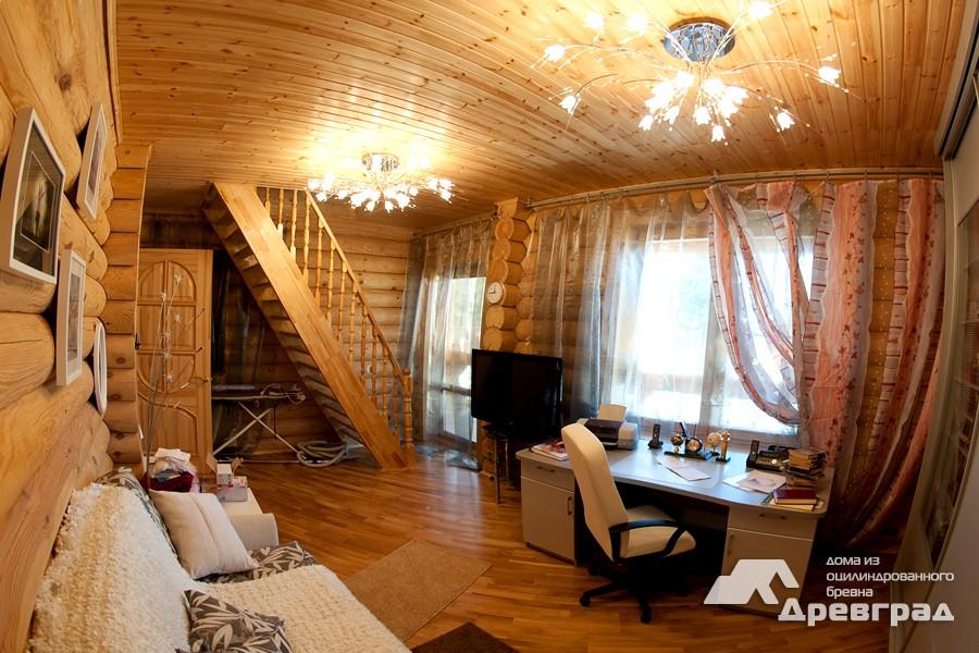Неповторимые фотографии домов из оцилиндрованного бревна