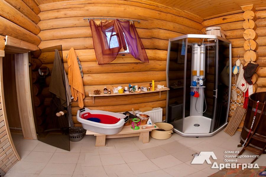 Дома из оцилиндрованного бруса уникальное фото