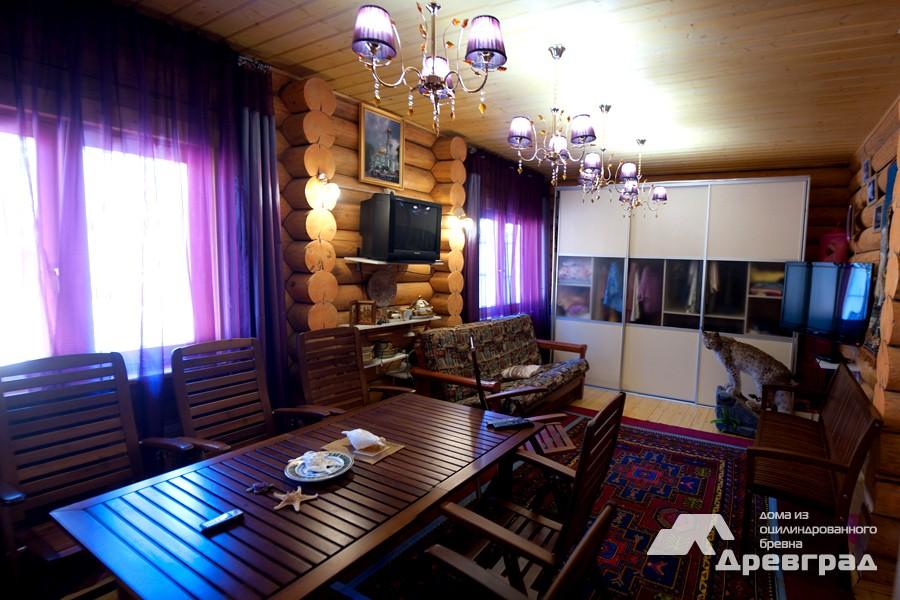 Дома из оцилиндрованного бревна одноэтажные уникальное фото