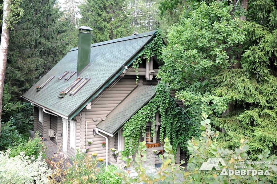 Дома из оцилиндрованного бревна 6х8 красивое фото