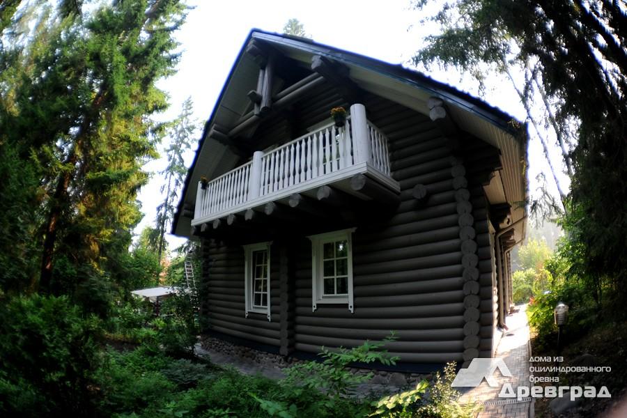 Небольшие дома из оцилиндрованного бревна фото