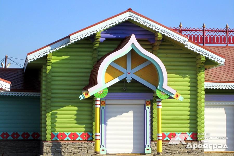 Готовые дома из оцилиндрованного бревна фото