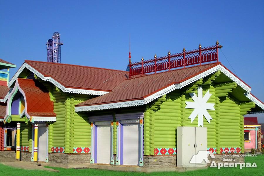 Дачные дома из оцилиндрованного бревна фото
