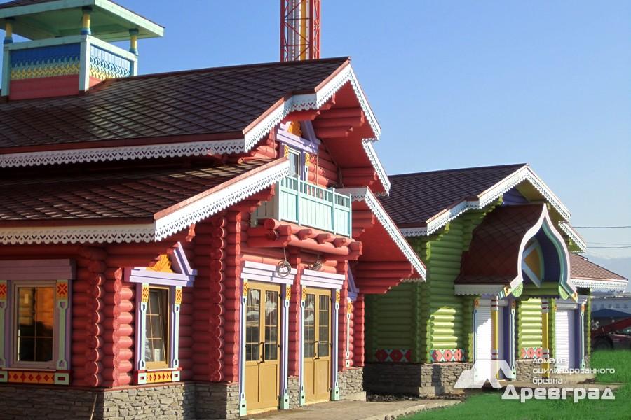 Лучшие дома из оцилиндрованного бревна фотографии