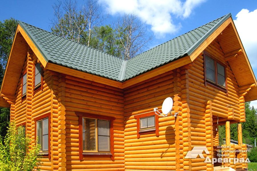 Фото домов из оцилиндрованного бревна за июнь 1