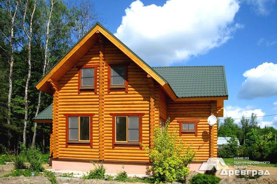Фото домов из оцилиндрованного бревна за июнь 2