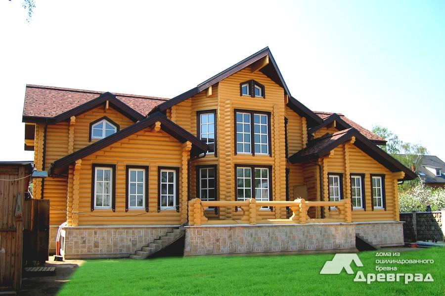 Фото домов из оцилиндрованного бревна за июнь 3