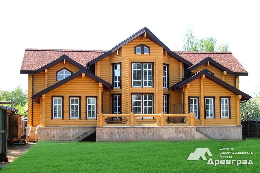 Фото домов из оцилиндрованного бревна за июнь 4