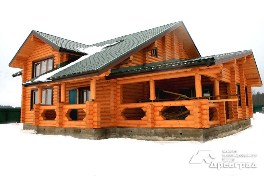 Фото домов из оцилиндрованного бревна за июнь 6