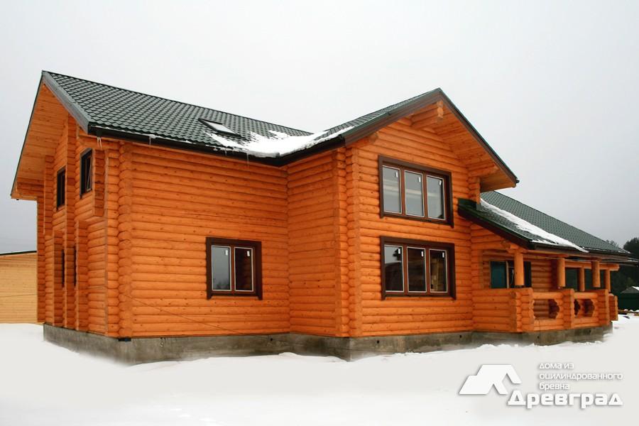 Фото домов из оцилиндрованного бревна за июнь 7