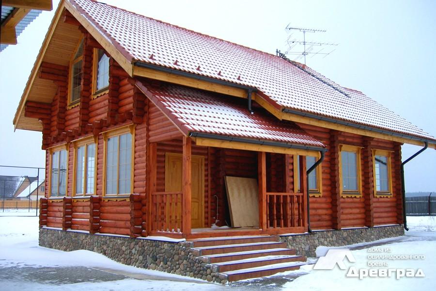 Фото домов из оцилиндрованного бревна за июнь 10