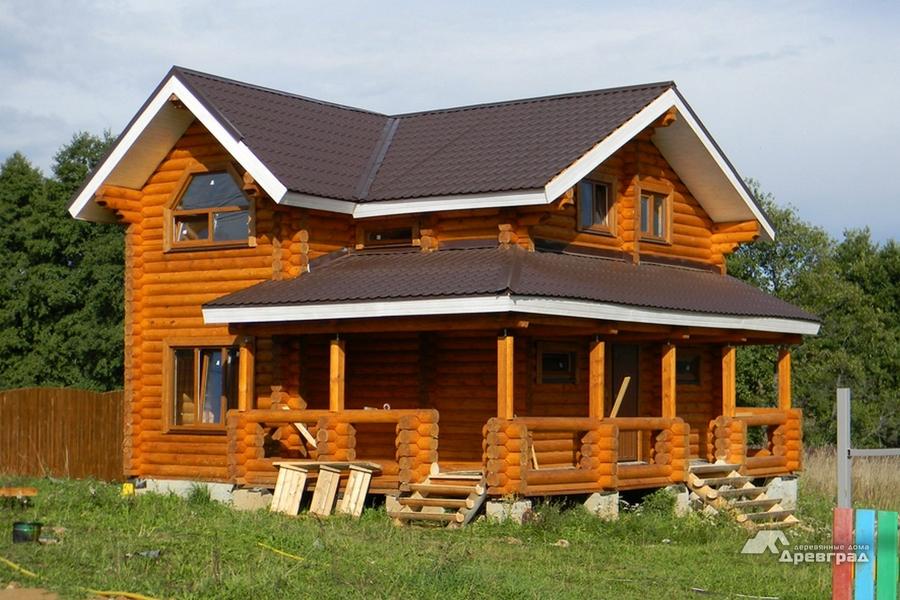 Дома из оцилиндрованного бревна интерьер