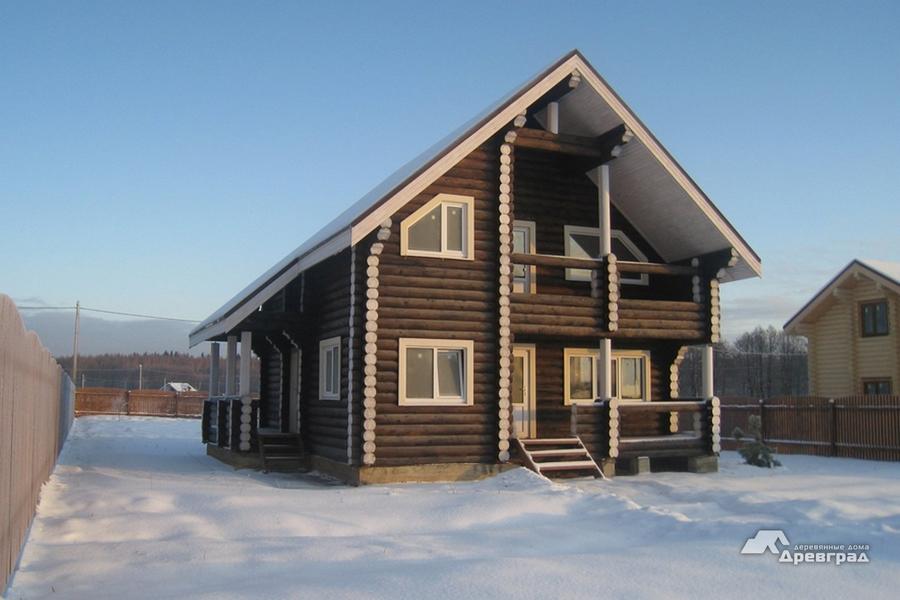 Изготовление домов из оцилиндрованного бруса фотографии