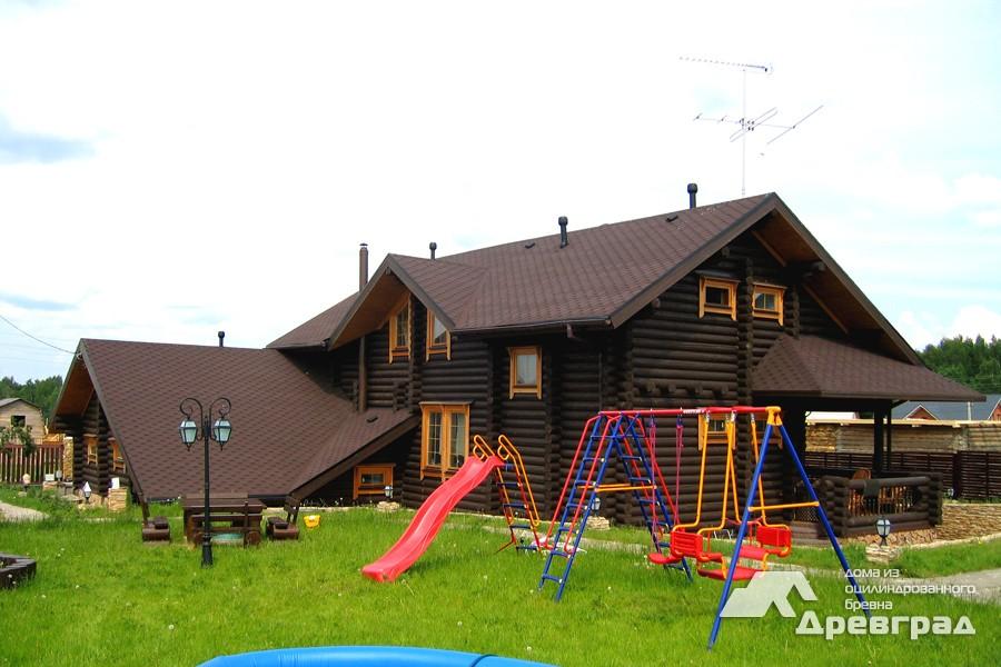Фото домов из оцилиндрованного бревна за июнь 11