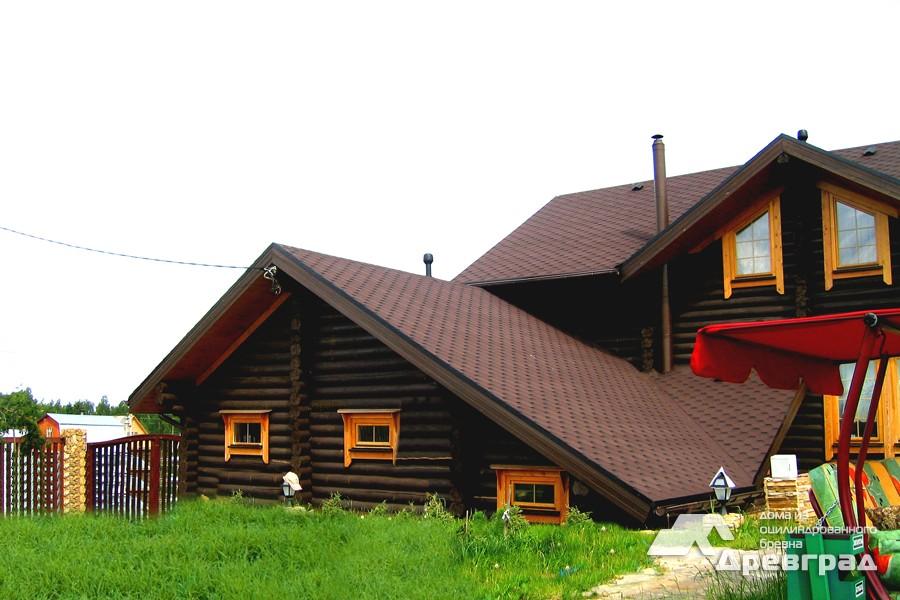 Фото домов из оцилиндрованного бревна за июнь 13