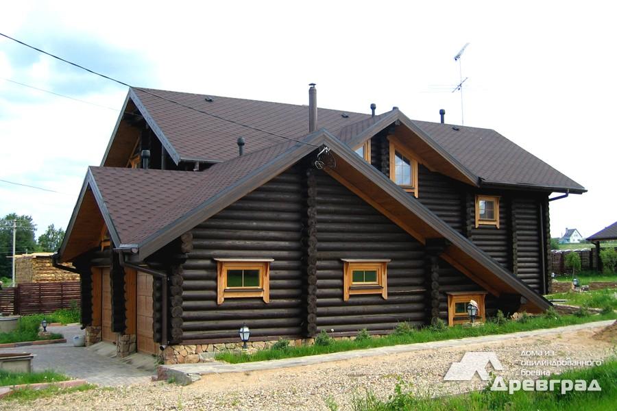 Фото домов из оцилиндрованного бревна за июнь 14