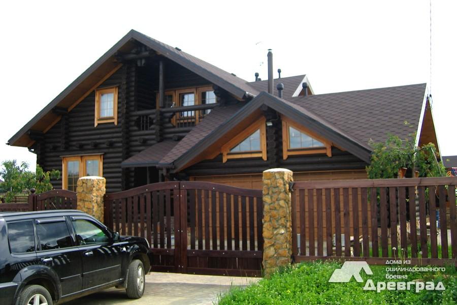 Фото домов из оцилиндрованного бревна за июнь 15