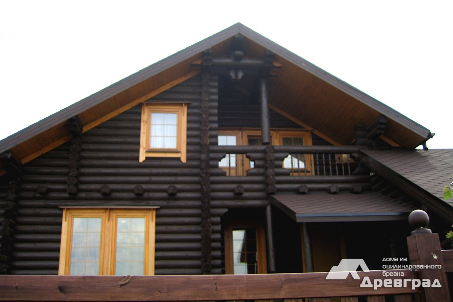 Фото домов из оцилиндрованного бревна за июнь 16