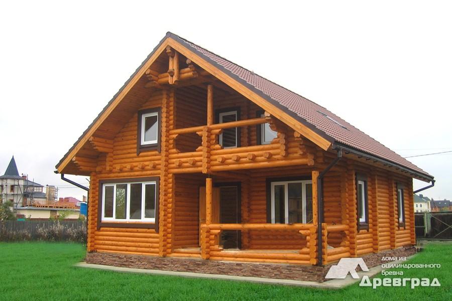 Фото домов из оцилиндрованного бревна за июнь 17