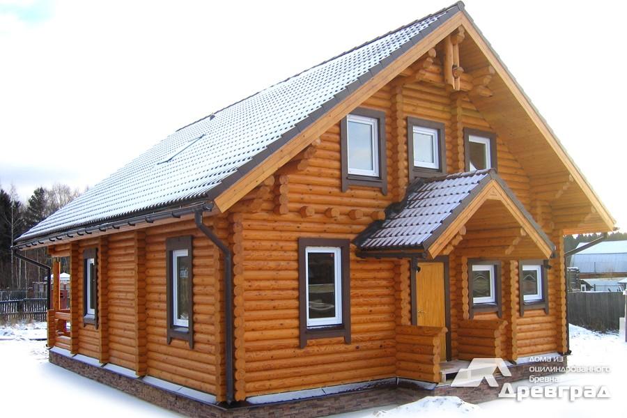 Фото домов из оцилиндрованного бревна за июнь 19