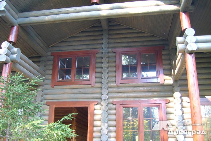 Фото домов из оцилиндрованного бревна за июнь 20