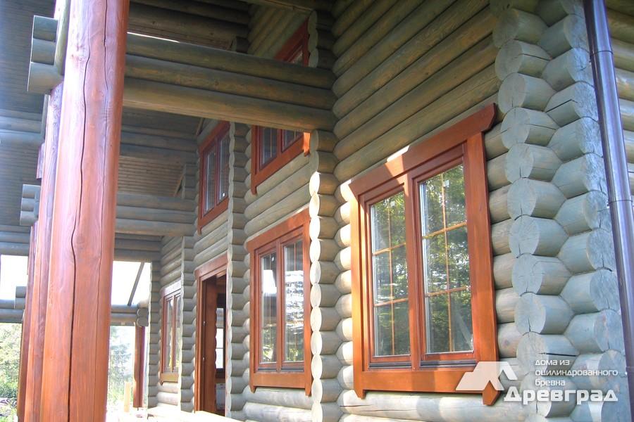 Фото домов из оцилиндрованного бревна за июнь 21