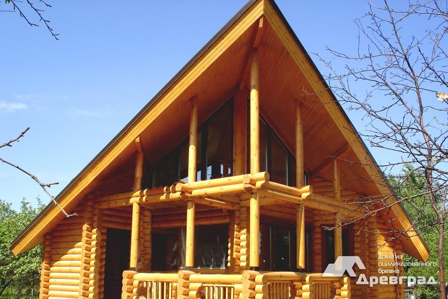 Фото домов из оцилиндрованного бревна за июнь 22