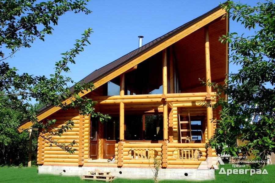 Фото домов из оцилиндрованного бревна за июнь 23