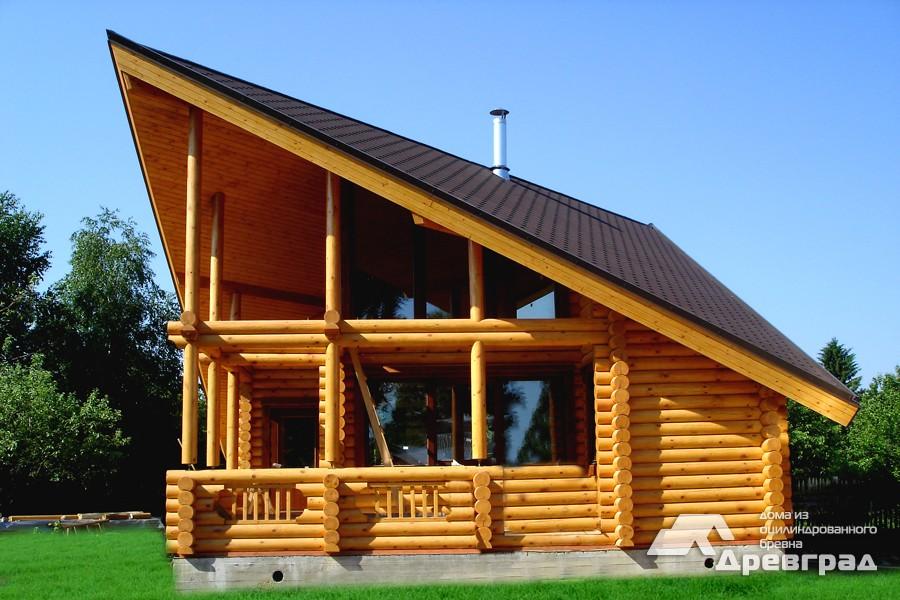 Фото домов из оцилиндрованного бревна за июнь 24