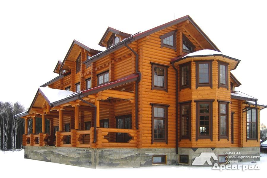Фото домов из оцилиндрованного бревна за июнь 28