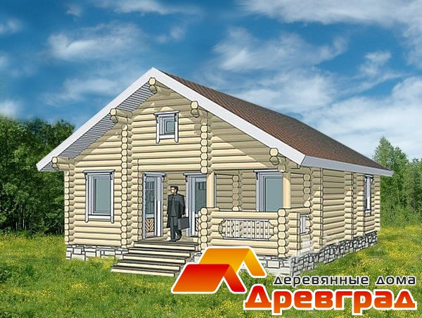 Небольшой дом из оцилиндрованного