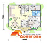 Деревянный каркасный дом «Ликино-Дулево»