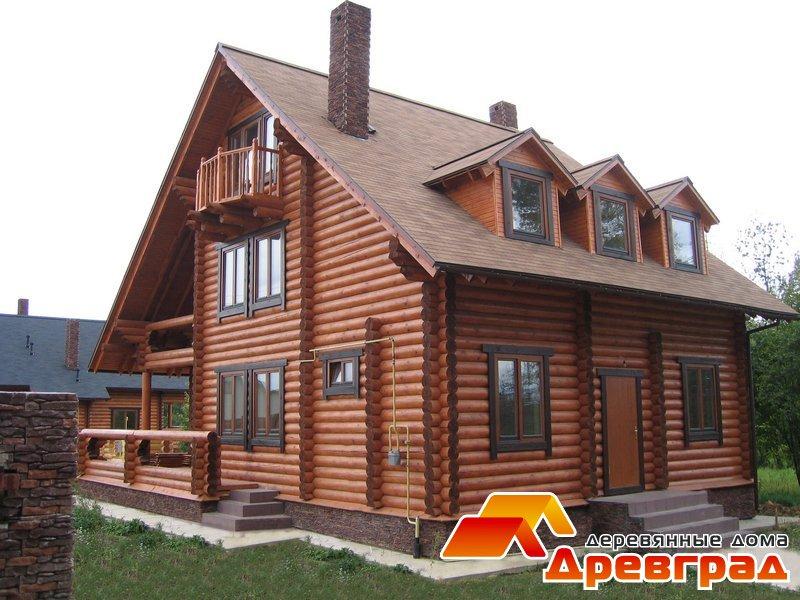 Дом из оцилиндрованного бревна «Бельведер», построенный по отличному проекту