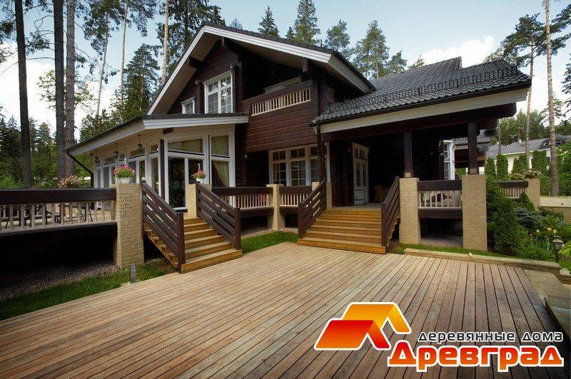 Деревянный дом из клееного бруса «Ряж»